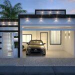 Diseños de casas pequeñas con cochera techada