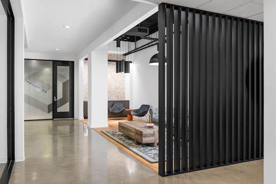 Celosías de pared para dividir espacios