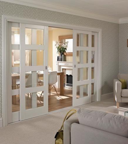Puertas deslizantes para dividir espacios