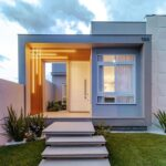 Iluminación frontal para casas pequeñas