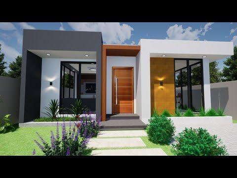 Fachadas de casas bonitas con jardín al frente