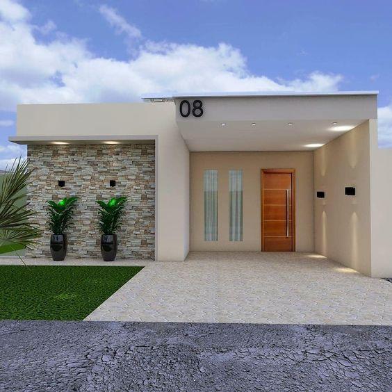 Fachadas de casas bonitas y pequeñas