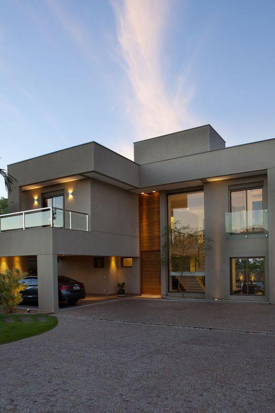 Fachadas de casas con doble altura