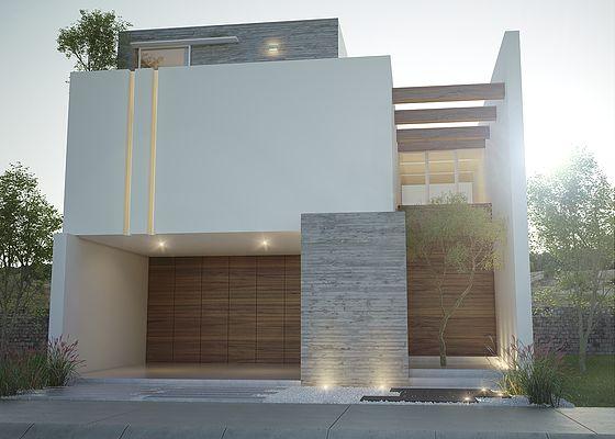 Revestimientos en fachadas de casas introspectivas