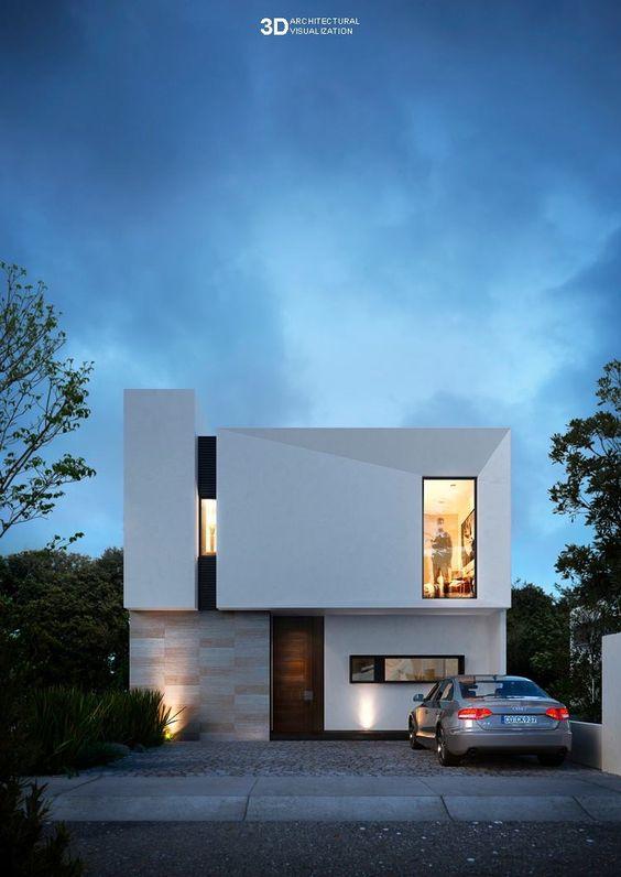Ideas para casas introspectivas en colores claros