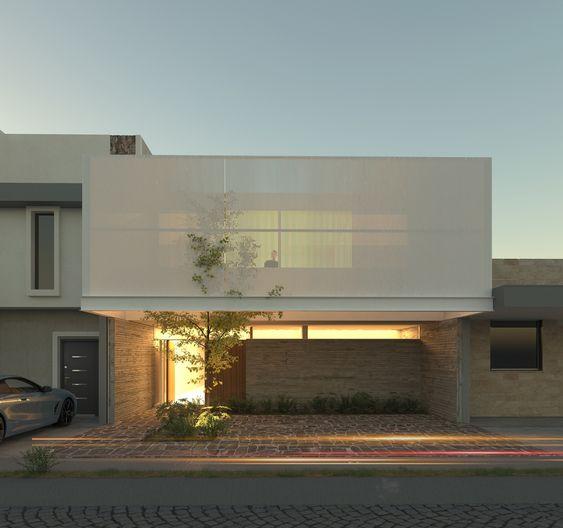 Fachadas de casas introspectivas