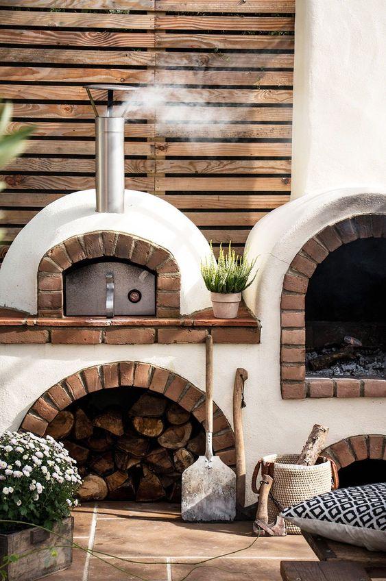 Ideas de hornos exteriores para casas rústicas de campo