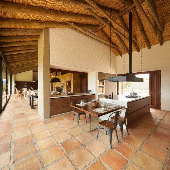 Interiores de casas de campo