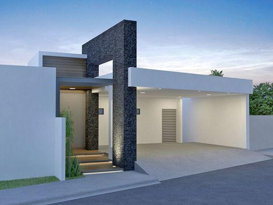 Modelos de casas sencillas con cochera