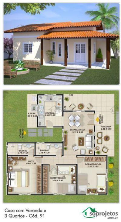 Ideas de planos para casas pequeñas estilo colonial