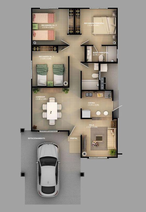 Casas económicas y bonitas por dentro y fuera