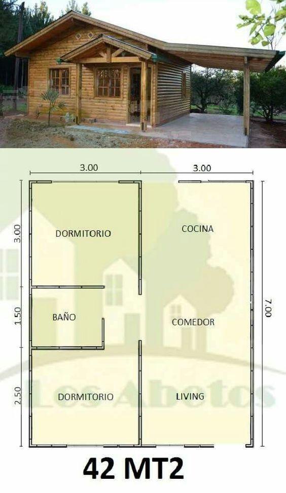 Diseños de planos de casas pequeñas rústicas