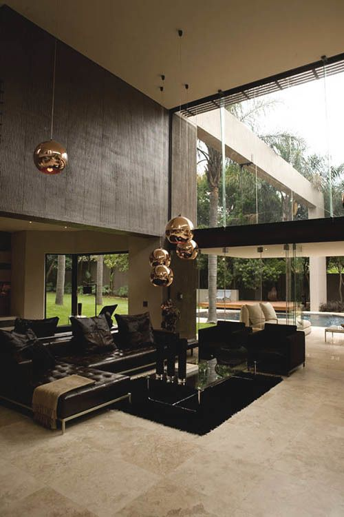 Salas de estar con doble altura