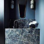 Toques de mármol en baños modernos
