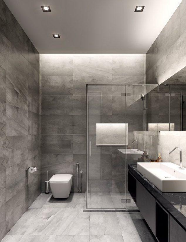 Elementos metálicos en decoración de baños