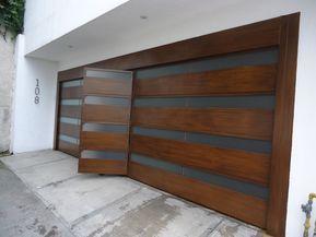 Portones de aluminio tipo madera