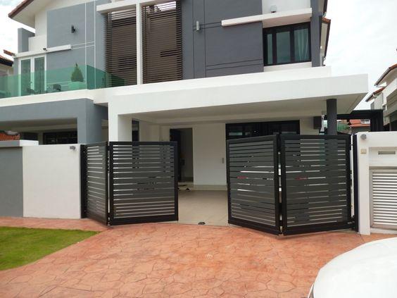 Casas con portones de aluminio