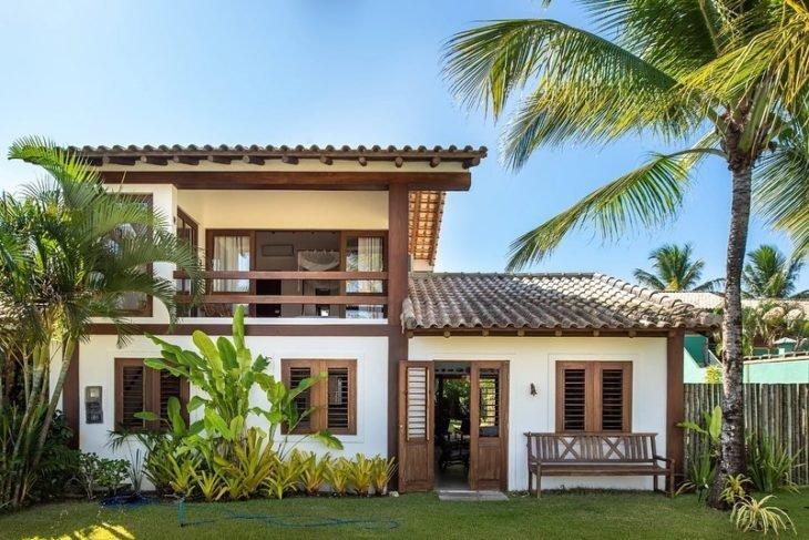 Ideas de casa de dos pisos con techos de teja