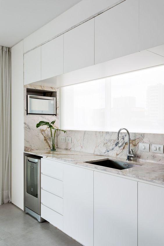 Cocinas modernas decoradas con mármol