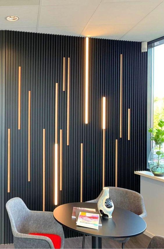 Muro principal para separar espacios interiores
