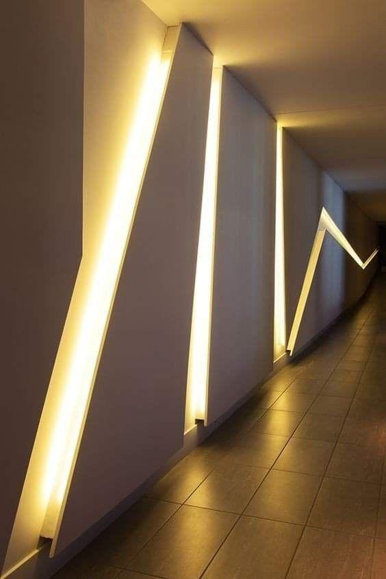 Diseños de muros con luz