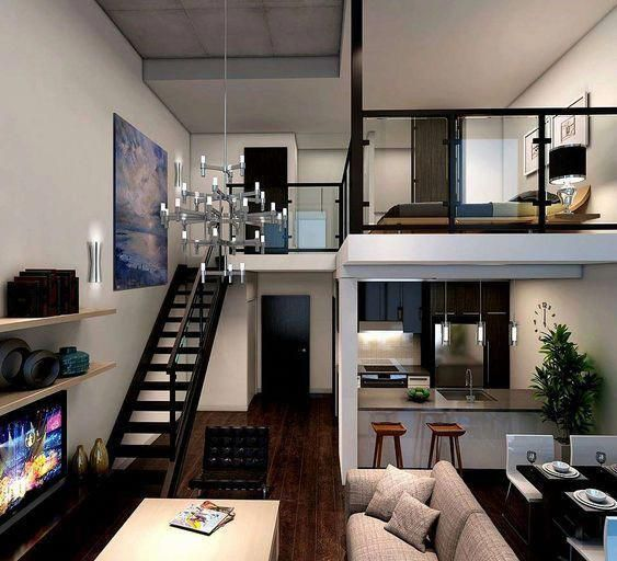 Espacios abiertos en apartamentos modernos