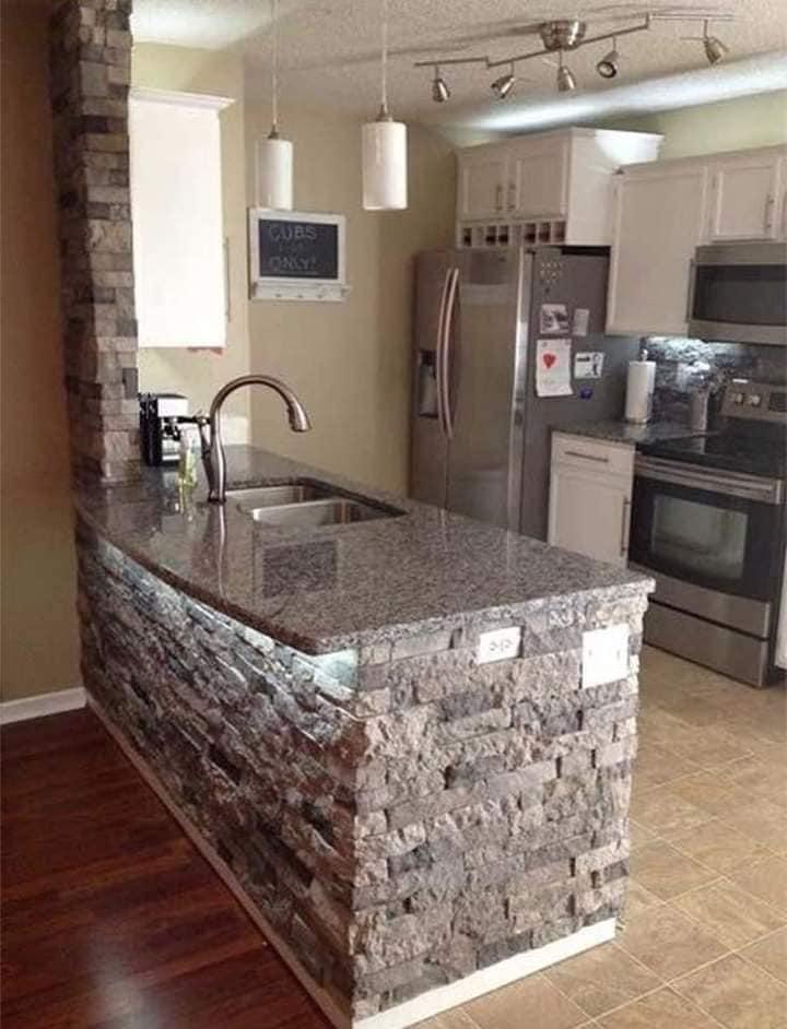Cocinas decoradas con piedra