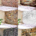 Área de las escaleras decorada con piedra