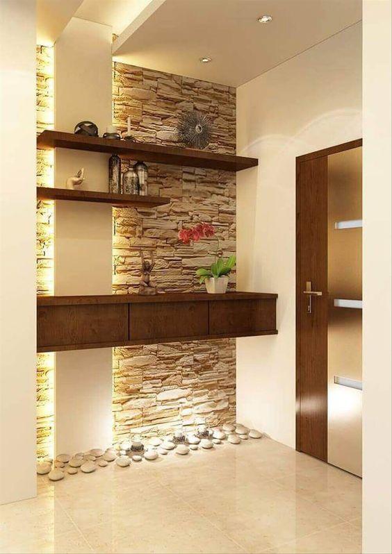 Entradas decoradas con piedra