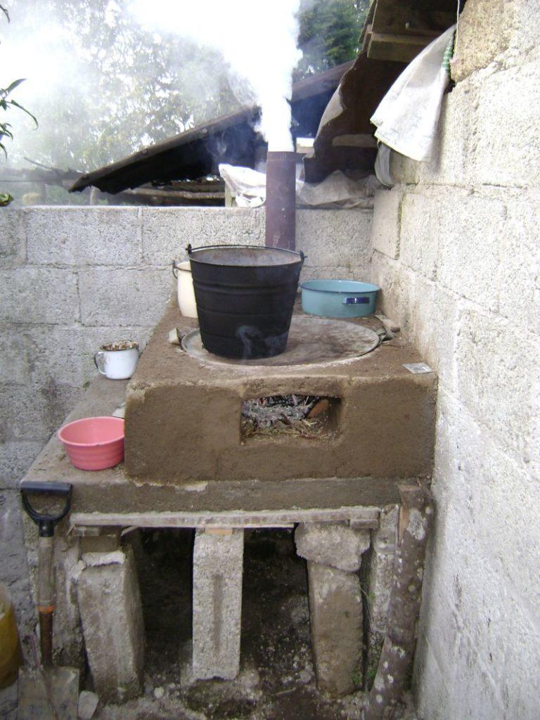 Estufas de leña de concreto