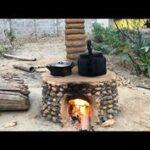 Fogones de leña con horno