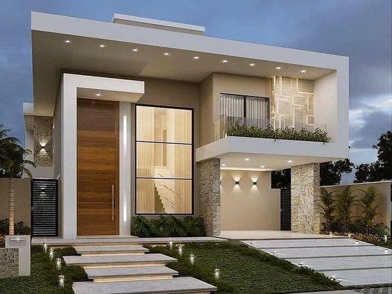 Diseños de fachadas de casas bonitas cuadradas