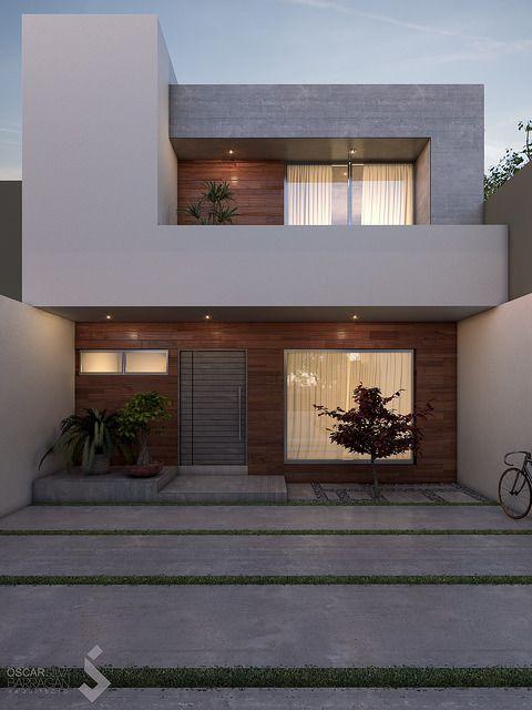 Casas de dos plantas con balcón