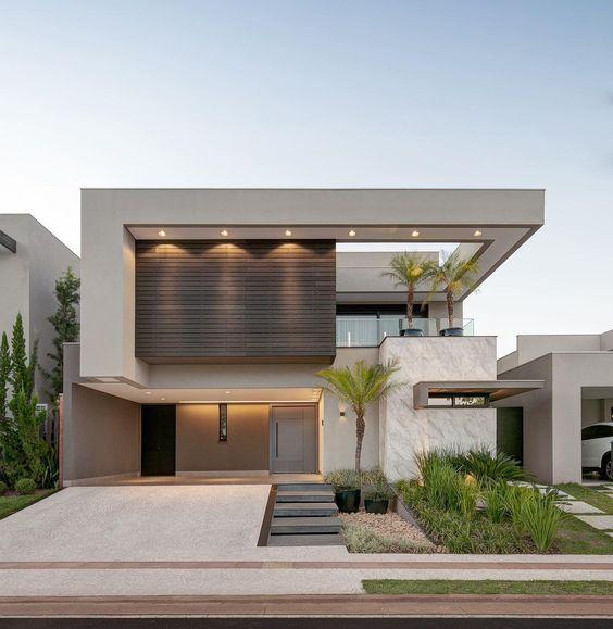 Opciones de fachadas frontales de casas de dos pisos