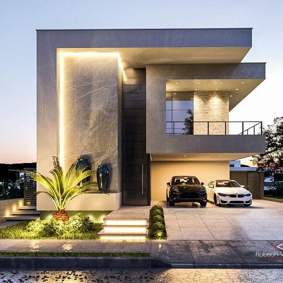 Ideas de fachadas de casas con patio frontal