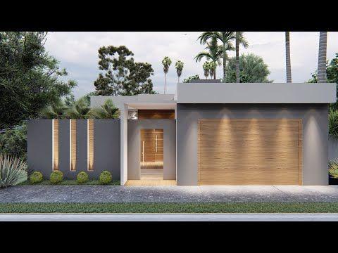 Fachadas frontales de casas de una planta