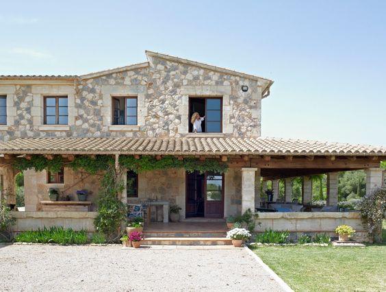 Hermosas casas rústicas de campo