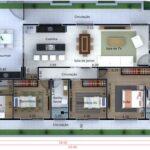 Planos de casas en esquina en 3d