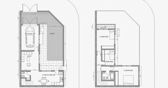 Planos de casas en esquina con cochera