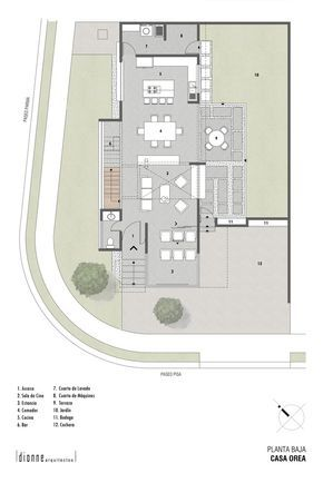 Planos de casas en esquina de dos plantas