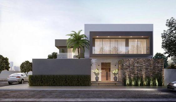 Diseños de casas en esquina minimalistas