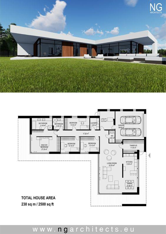 Ideas de planos de casas con medidas minimalistas
