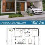 Diseños de planos de casas de un piso minimalistas