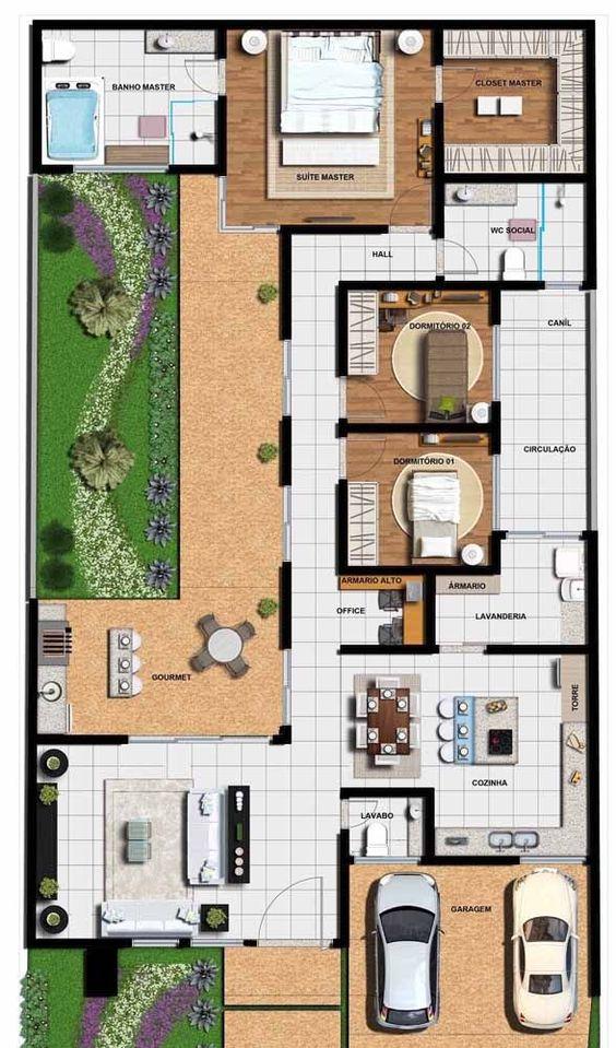 Casas modernas pequeñas con planos
