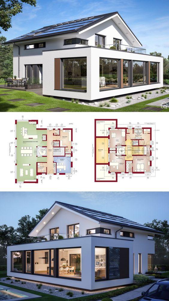 Diseños de casas modernas con medidas