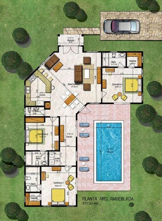 Ideas de casas de una planta modernas