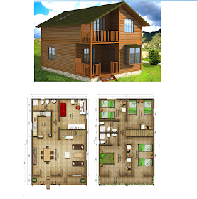 Diseños de casas rústicas de dos pisos