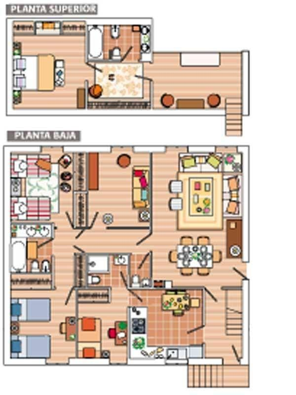 Diseños de planos de casas rústicas modernas